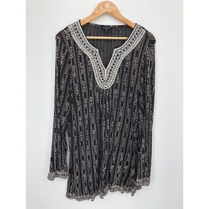 Lucky Brand black and white tunic